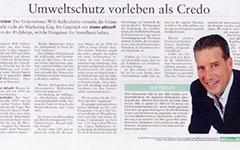 Kellershohn Zeitungsausschnitt Umweltschutz
